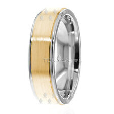 10K SOLID GOLD TWO TONE WEDDING BANDS MENS WOMENS SOLID GOLD WEDDING BANDS RINGS