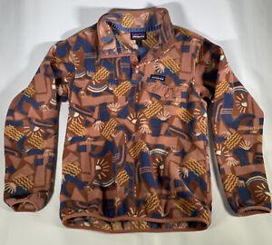 Rare Patagonia Synchilla Snap T Pullover Fleece Geometric Aztec Tribal Men's S