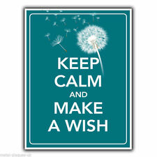 METAL SIGN WALL PLAQUE KEEP CALM AND MAKE A WISH art print poster picture