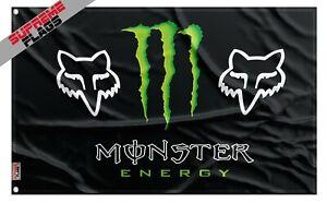 Monster Energy Fox Racing Flag (3x5 ft) Banner
