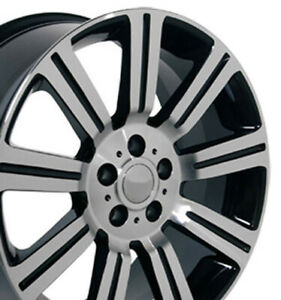 "20"" Rim Fits Land Rover Range Rover Stormer LR01 Black Mach'd 20x9.5 Wheel"