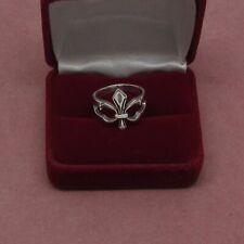 Sterling Silver open band style Fleur de Lis Men's ring 925 hallmark size 10