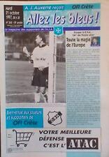 Programme AUXERRE France - OFI CRÈTE Greece 1997/1998 UEFA CUP