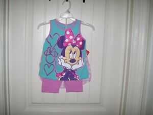 DISNEY MINNIE MOUSE GIRLS 2 PC. SLEEVELESS TOP &  SHORT SET SIZE 5