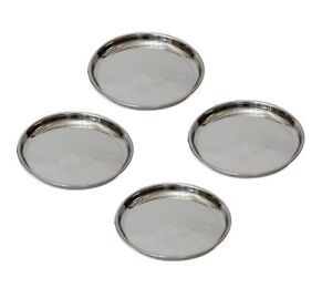 Pati Deluxe Stainless Steel Indian Thali/ Plate / Kumcha (Stainless Steel Thali/