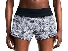 NIKE Dri Fit rival impresión Pantalones Cortos Negro Gris Mezcla Talla Grande con breve interno