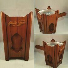Handmade Wooden Yemeni Tarimi Mabkhara Incense Burner