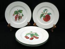 "(4) WILLIAMS SONOMA - FRUIT & BERRIES 8.25"" SALAD / DESSERT PLATES - GORGEOUS"