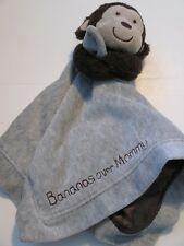 Carters Bananas Over Mommy Monkey Lovey Blanket Rattle Baby Grey Brown
