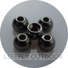 Nickel Black Color, 100 Tungsten Beads, 2.3mm 2.7mm 3.2mm 3.8mm Assortment