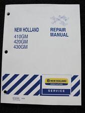 New Holland 410gm 420gm 430gm Flex Wing Finish Mower Service Repair Manual
