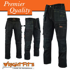 Men Work Cargo Trouser Black Pro Heavy Duty Multi Pockets W:30 L:29