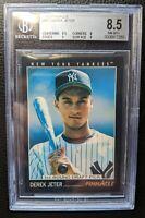 1993 PINNACLE 457 DEREK JETER ROOKIE CARD NEW YORK YANKEES HOF BGS 8.5