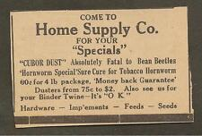 VINTAGE AD CLIPPED FROM NEWSPAPER - HOME SUPPLY CO., SMITHS GROVE, KY-1939