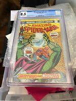 Amazing Spider-man #142, VF+ 8.5 CGC, Has Unique Italian Import Stamps