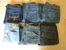 Girls Jeans 10-12 lot of 6 jordache gymboree levis old navy arizona piper