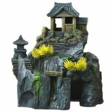 New listing Exotic Environments Asian Cottage House with Bonsai Aquarium Ornament