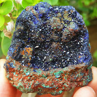 HOT104.3g Sparkling Natural blue azurite malachite green mineral samples YKJH76