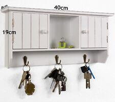 BNWB Wall Mounted Key Cabinet Vintage Wooden Storage Shelf Rack Holder Hooks