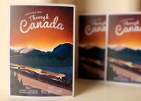 "#3761 Canadian Railway Travel Canada vintage Luggage Label 4x3"" Decal STICKER"