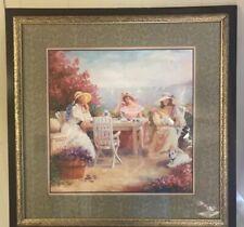 Home Interior Picture Tea Party Seaside Ocean Wall Art 2002 D. Gacomo 27 1/2� x