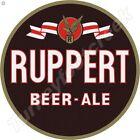 "RUPPERT BEER & ALE 11.75"" ROUND METAL SIGN"