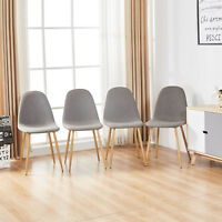 Dining Side Chairs Strong Metal Legs Dining Room Chairs set of 4 chairs