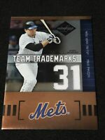 2004 Leaf Limited Baseball MIKE PIAZZA TEAM TRADEMARKS GAME PATCH, #32/50, METS