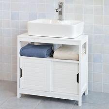 SoBuy®Mueble para debajo del lavabo,1 estante y 2 puertas,blanco,FRG128-W,ES