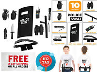 All In One Police Officer Role Play Set Toy Toys Uniform Accessories Kids Kit
