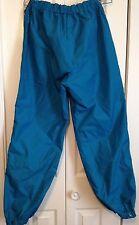 Columbia Reversible Nylon Pants Large Blue Black Full Leg Zipper Elastic Waist