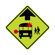 S3-1 School Bus Stop Ahead Sign FYG - 36 x 36 - A Real Sign. 10 Year 3M Warranty