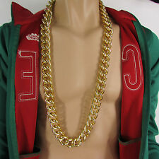 "N. Men Chunky Metal Thick Chains 35"" Long Fashion Necklace Gold Hip Hop Gangster"