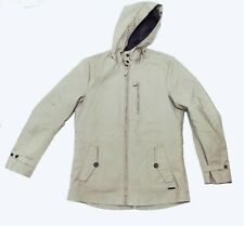 Sisley men's parka jacket coat removable lining light grey size M hooded 2 in 1