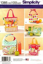 Simplicity Sewing Pattern 1385 Lunch Bags Snack Bag Art Caddies