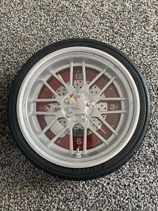 Tyre Wheel Effect Wall Clock