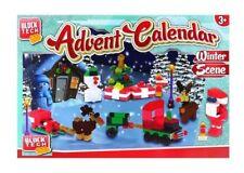 ADVENT CALENDAR NEW CHRISTMAS WINTER SCENE BUILDING BLOCKS BOY GIRL BNWT 3+