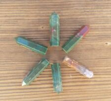 NATURAL BLOODSTONE SINGLE TERMINATED GEMSTONE CRYSTAL PENCIL POINT (ONE)