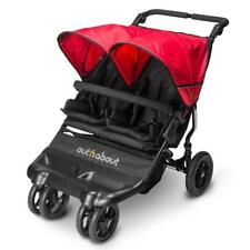 Out N About Little Nipper Double (coquelicot rouge) Compact Jumeau bébé