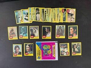 1977 Topps Star Wars 3rd Series 3 Complete 66 Yellow Card Set + Wrapper Fair