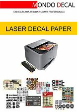 WATERSLIDE DECAL PAPER LASER KIT: 6 SHEETS A4 (3 CLEAR + 3 WHITE)