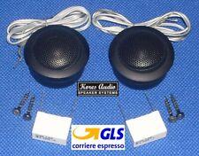 Kores Audio KXE-1006 Coppia Tweeter a Cupola in Mylar per Auto 2x 280W + Filtri
