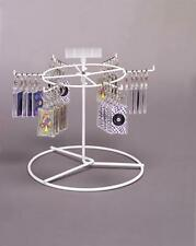 Counter Key Chain Spinner Display Rack - 1 Tier 6 Peg (White)