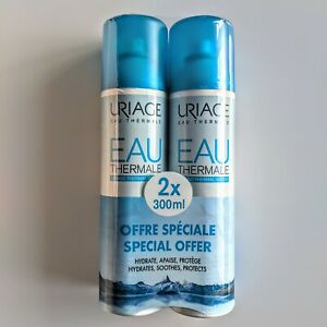 2 x URIAGE Eau Thermale Thermal Water Hydrates Soothes Protects  2 x 300ml New