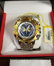 Invicta 16808 Reserve Venom Hybrid Swiss Master Calendar Gold Tone Blue Watch