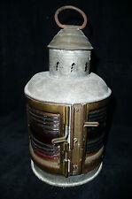 Vintage Brass Metal Perkins Perko Marine Lantern Port and Starboard