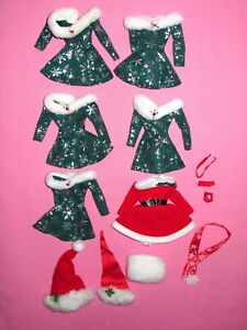 Mattel - LOT of Christmas Barbie Doll Clothes