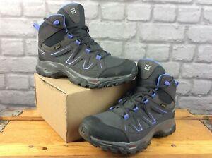 SALOMON LADIES UK 7 EU 40 2/3 TIBAI MID GTX GREY PURPLE WALKING BOOTS RRP £120 T
