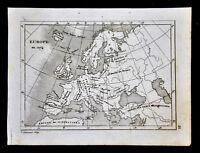 c. 1835 Levasseur Map - Europe in 1074 Medieval Era Germany France Spain Greece