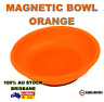 "1x Hi-Vis 6"" Magnetic Bowl Tray | ORANGE | Parts Tools | Screws Nuts Bolts Nails"